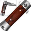 Mini Stiletto Spring Assist Knife W/ Pakkawood Handle
