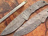Custom Survival FULL DAMASCUS Steel Knife (Blank Blade) 9in 1095 Steel