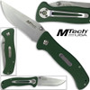 MTech USA Scouts Folder Knife 440 Stainless Steel Green