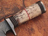 Out Class  Damascus Steel Hunting Knife w/ Giraffe Bone Handle