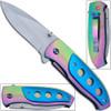 Titanium Coated Vengeance Knife AUS-8 Steel Manual Folding - BL
