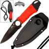 Master USA Tactical Fixed Blade Boot/Neck Knife EDC Half-Serrate