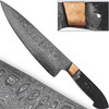 Damascus Steel Blank Santoku Chef Knife Copper Bolstered Cutlery