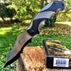 Mtech Xtreme Ballistic Black Grey Assisted Tactical Flipper Pocket Knife MX-A801GY