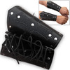 Biker Leather Cuffs (pair) Iron Cross Bracers Arm Armor Harley Black Studded