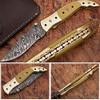 Executive Series Folding Damascus Gurkha Knife