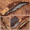 Executive Series MAGNUM COMBLOCK Damascus Folding Knife