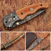 Signature Drop Point Unique Damascus Steel Folding Knife