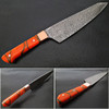 Solid Resin Grip Santoku Forged Chef Knife Damascus 1095 HC Steel by White Deer