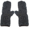 Medieval Riveted Chainmail Padded Gauntlets