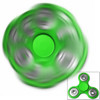 Fidget Tri-Spinner Green EDC All-Metal Weighted Bearing ADHD Focus Stress Reliever Hand Toys