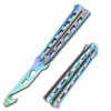 Balisong Gut Hook Multi Functional Tool Bottle Opener Butterfly Belt Cutter