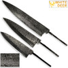WHITE DEER Chef Knife Blank Cutlery Trio