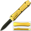 Legends Micro OTF Stiletto Blade Knife GOLD