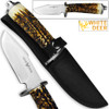 WHITE DEER Apprentice 2 9.75in Knife 440 Stainless Steel Sim-Stag Handle