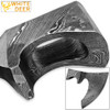WHITE DEER Blank Axe Head Bit Damascus Steel Viking Hatchet Wildling Tomahawk