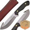 Case of 6pcs WHITE DEER Guthook Ranger Series J2 Steel Skinner Knife Micarta + Wood Grips