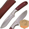Case of 6pcs WHITE DEER Pot Belly J2 Steel Skinner Knife Hunters Micarta Grip Drop Point