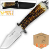 Case of 6pcs WHITE DEER Apprentice 2 9.75in Knife 440 Stainless Steel Sim-Stag Handle