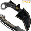 WHITE DEER Champion Karambit Knife Magnum Damascus Forged Steel