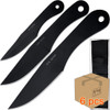 Case of 6pcs Jack Ripper Black Trifecta Knives Set 3Pcs Throwers