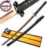 MOSHIRO Battle Ready Katana Red Oxidized 1060 High Carbon Steel Sword