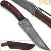 White Deer Large Executive Damascus Steel Knife