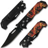 Red Dragon Fire Automatic Knife