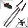 Deadpool Katana Set Carbon Steel Swords Red Suba Dual Backstrap Movie Superhuman MutantDeadpool Katana