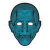Halloween Full Face Dance Mask Voice LED Control Party Masks Masquerade 3D