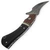 1095HC Damascus Steel Blade  Buffalo Horn Camel Bone Handle Skinner                                    CAMEL BONE,HARD WOOD BOLSTER