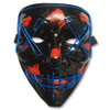 EL Wire Ghost Mask Slit Mouth Light Up Glowing LED Mask Halloween Cosplay Glowi