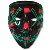 EL Wire Ghost Mask Slit Mouth Light Up Glowing LED Mask Halloween Cosplay Glowing Green Wire