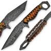 Mongster Karambit 1095 HC Damascus Tanto Blade W/ Frost Wood Handle