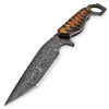 Mongster Karambit 1095 HC Damascus Tanto Blade W/ Frost Wood Handle