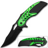 White Deer Tactical Knife Green and Black