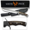 White Deer Full Tang SURVIVOR Bowie Fixed Blade Knife W/Sheath
