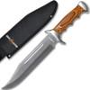 White Deer Full Tang Bowie Knife 15in w/ Sheath & Hardwood Handle