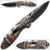 White Deer Hunters Dream Knife Lightened Assisted Open