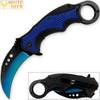 White Deer Blue Moon Defense Titanium Karambit Knife Lightened Assisted Open