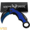 White Deer Blue Moon Defense Titanium Karambit Knife Lightened Assisted Open