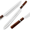 "White Deer Japanese Shape Long 17.5"" Kitchen Chef Knife Drop Point"