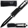 XL Spear Point OTF Knife Out The Front Assisted Open Tactical Glass Breaker