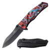 Red Dragon Collection Spring Assisted Knife