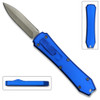 Legends Micro OTF Stiletto Blade Knife Blue Out The Front