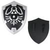 Black Dark Master Legend of Zelda Foam Shield w/ Strap Link Hylian LARP  Battle ready