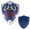 Deluxe Zelda Master Legend Blue Foam Shield w/ Strap Link Hylian LARP Battle ready