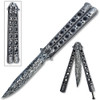 Balisong Damascus Petain  Butterfly Knife