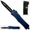 Blue Legacy Edge OTF Knife Spear Point, Double Edged Blade