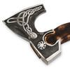 Axe Bogatyr Hand Made 1095 Forge Steel ASH Wood Burn Handle